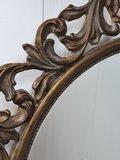 Franse spiegel rond detail lijst