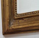 Franse spiegel  klein met ronde hoek  detail