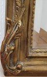Franse spiegel  kuif Brocante mat goud