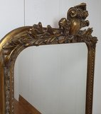 Franse spiegel  antique look met ornamenten  Brocante baroque kuif
