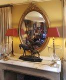 franse spiegel ovaal met franse schouw