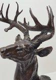 bronzen hertenkop hert jacht scene