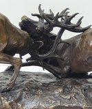 bronzen beeld hertengevecht deer edelherten bronstijd
