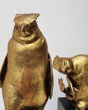 PinguÏn penguin dansend brons met bladgoud set