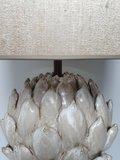 exclusieve keramische lampenvoet artichoke  model Lumière verlichting met bijpassende handgemaakte kap