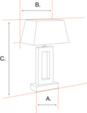 Hanglamp vintage brons messing antiek afwerking incl. 6 zwarte klemkapjes_