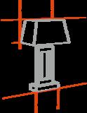 Kroon met glazen en gouden ringen incl. cilincer lampenkap _