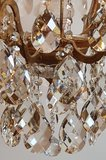 kristalen kroonluchter met bladgouden frame klassiek Frans van Lumiere (10)