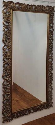 Grote spiegel met krullen afm 100 x 200 cm