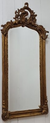 Franse facet geslepen spiegel met koof