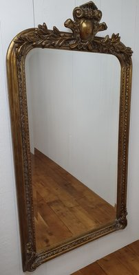 Franse spiegel met dikke baroque koof