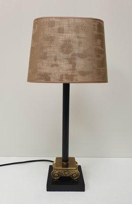 Klein tafellampje met ovaal lampenkap handgemaakt