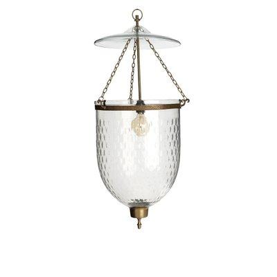 Hanglamp lantaarn messing glas