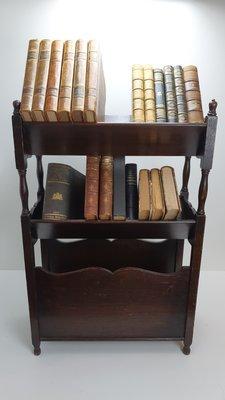 Antiek Engels eiken boekenstandaard