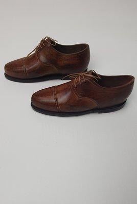 bruin heren schoen met veter