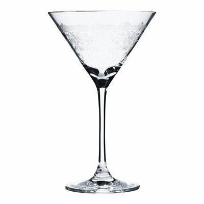 set van 6 martini glazen