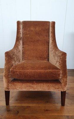 Hoge strakke fauteuil