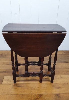 Antieke eiken hangoor tafel / Gateleg table