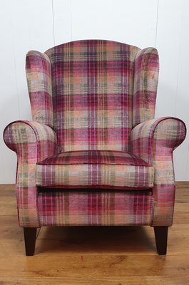 Fauteuil  Wingchair King in Mulberry Ancient Check