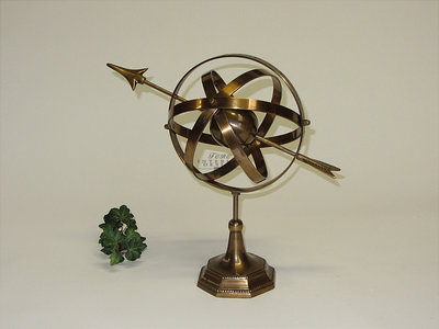 Messing compass 29 cm