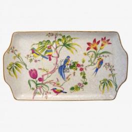 Porselein schaaltje vogels & bloemen