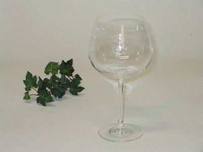 set van 6 wijn glas rood met geslepen patroon
