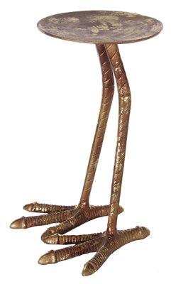 Kaarsenstandaard vogelpoot in messing (33,5 cm)