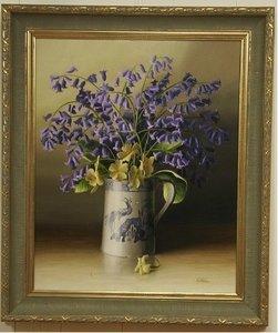 schilderij met bloemen  druk op canvas
