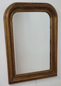 Franse spiegel Louis Phillipe style klein met ronde hoek