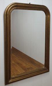Franse spiegel Louis Phillipe style  antique look goud antiek