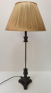exclusieve lamp glas met brons Eichholtz en plooikap ecru