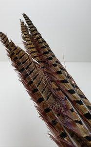 Fazant  veren op metalen stok bruin gemêleerd 83 cm (p.s.)