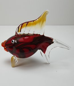 Vis van glas rood glas kunst