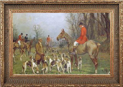 Hunting with horses in frame