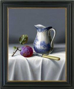 Schilderij stilleven met waterkan